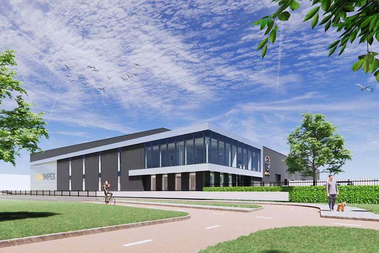 Nieuwe bedrijfsruimte voor Zon Impex op Oudeland Berkel en Rodenrijs - vooraanzicht