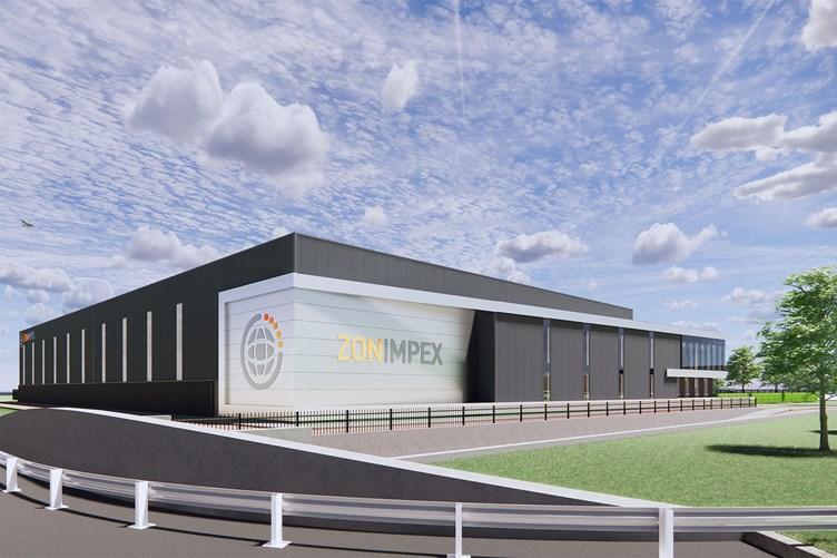 Nieuwe bedrijfsruimte voor Zon Impex op Oudeland Berkel en Rodenrijs - hoekaanzicht