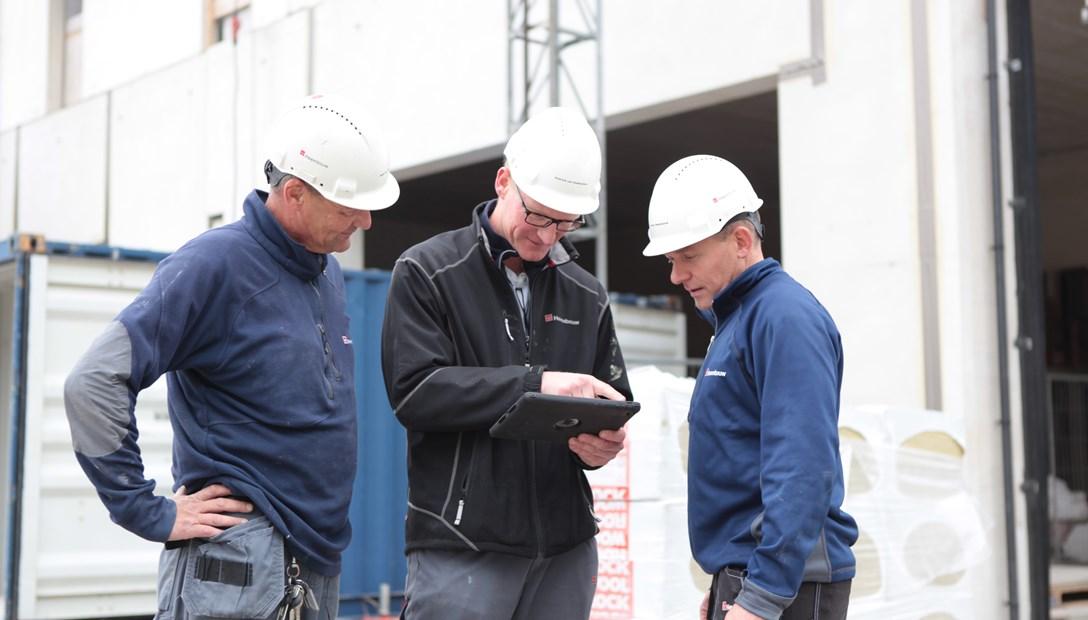 BIM en TIM iPad op de bouw Heembouw