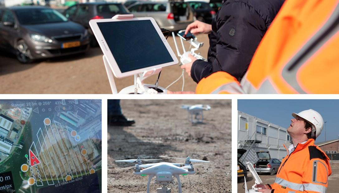Drone pilot ZXY Builders bouwplaats innovatie