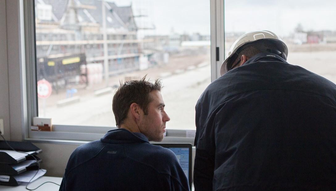 Henk van der Horst Bob Jonkheer overleg bouwplaats