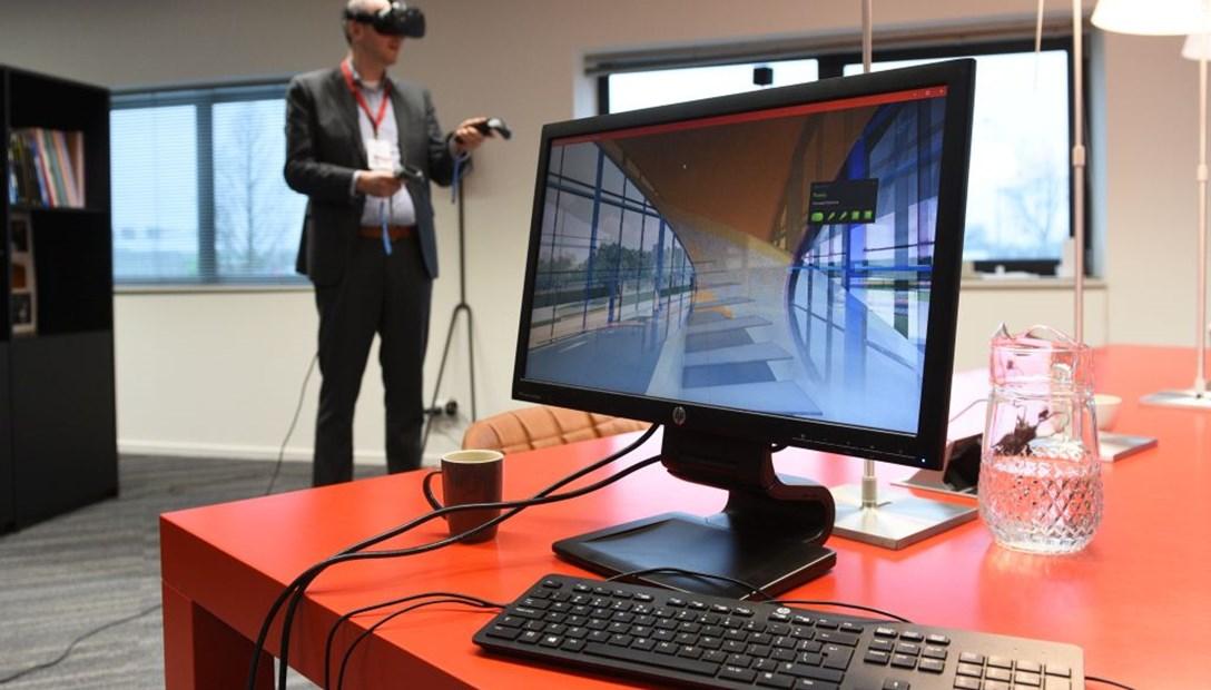 Klantevent Heembouw Open de toekomst demonstratie Habeon Architecten HTC Vive