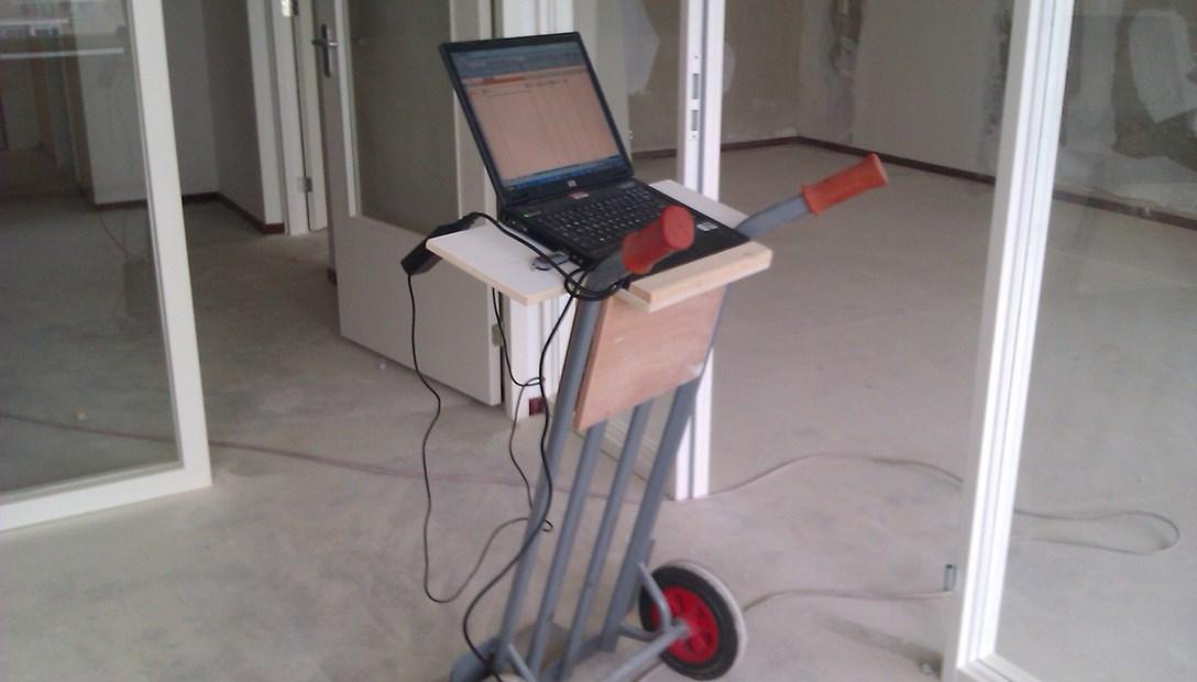 Laptop steekwagen digitaal opleveren