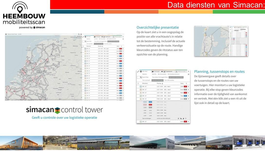 Mobiliteitsscan Heembouw locatie bedrijfsruimte Simacan data