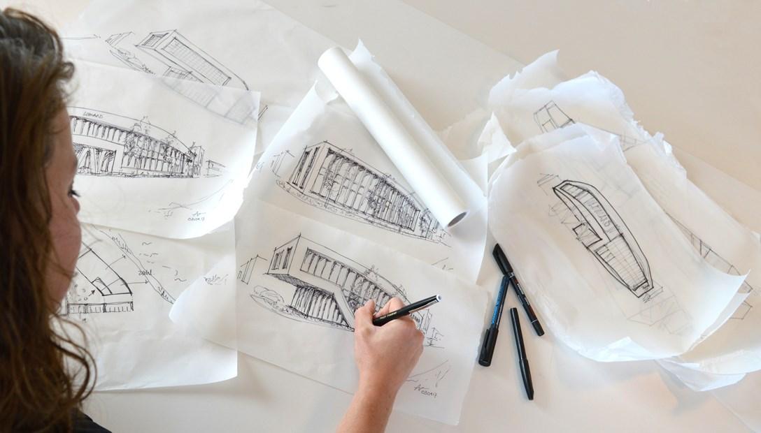 Ontwerpen schetsen Habeon Architecten