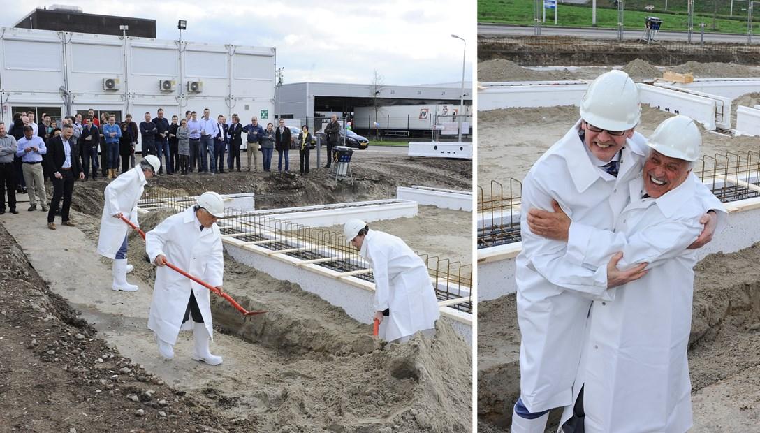 Originele start bouw kantoor Applied Medical Heembouw