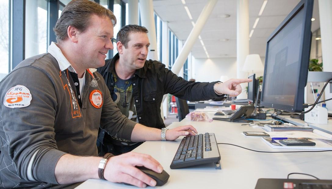 BIM engineers Heembouw Piet en Berry virtuele uitvoerders