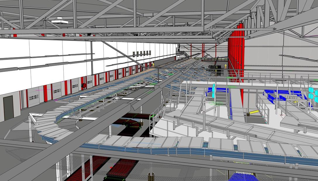 PostNL nieuwbouw sorteercentrum BIM