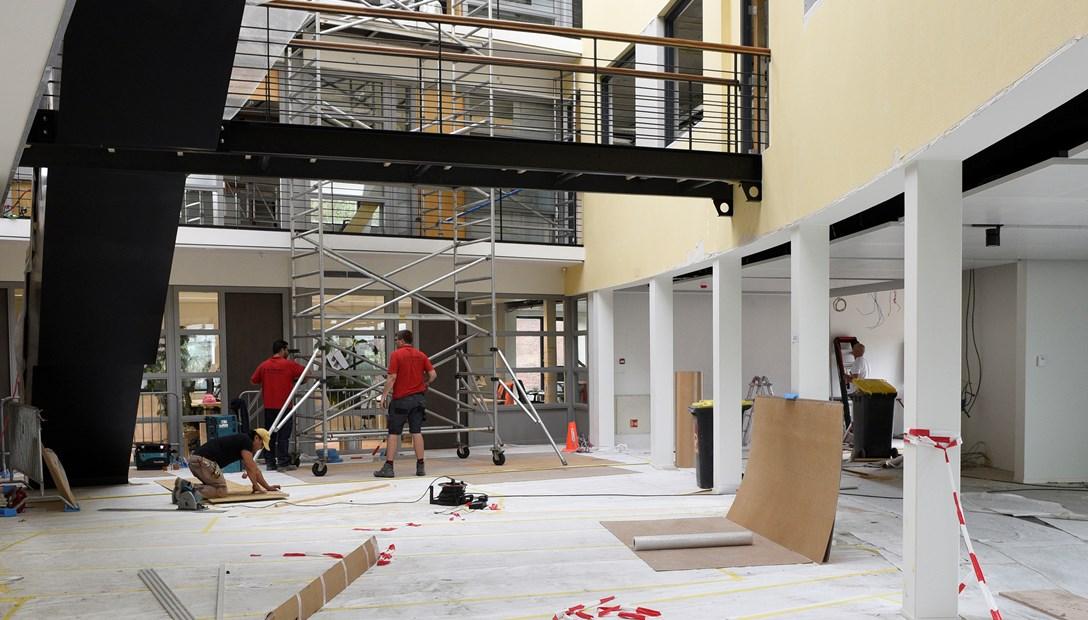 Verbouwing kantoor Heembouw akoestiek atrium