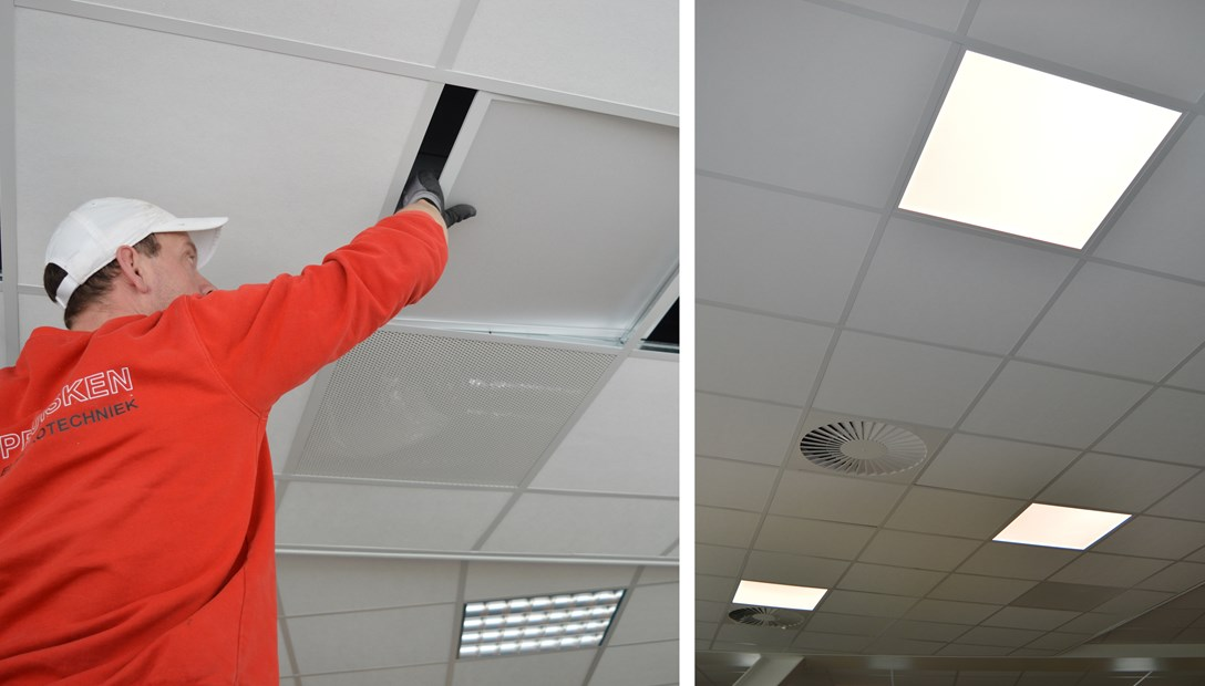 Verduurzaming kantoor Heembouw led verlichting