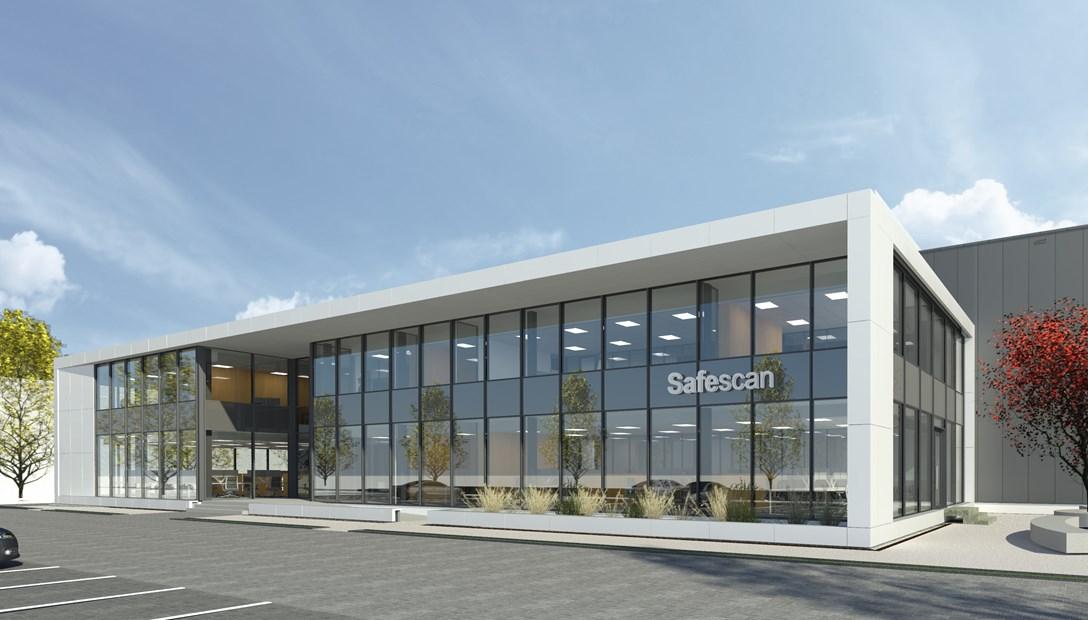 Nieuwbouw kantoor Safescan Zoetermeer impressie ontwerp Habeon Architecten