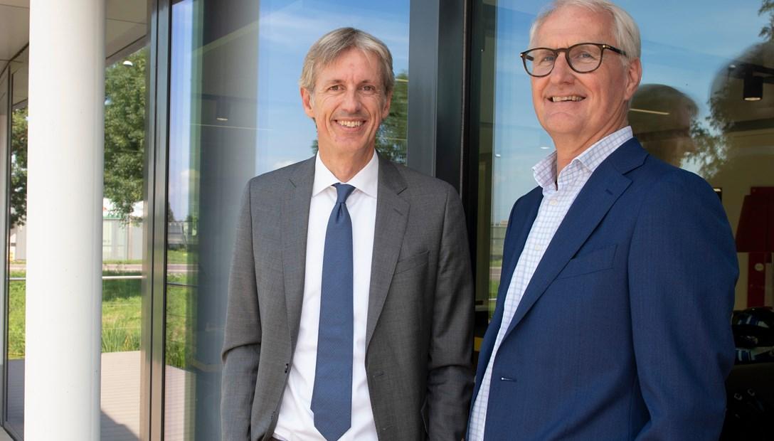 Léon Heddes (links) en Peter Lammertink (rechts)