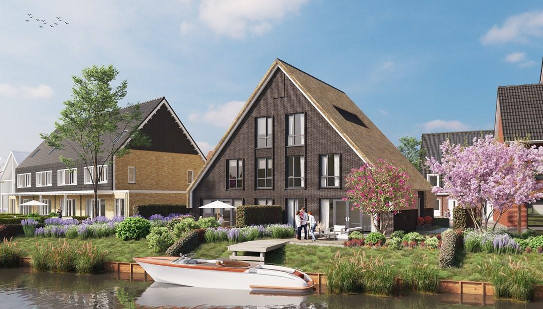 Westend impressie woningen nieuwbouw wijk Roelofarendsveen